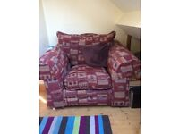 Red armchair sofa good condition