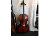 CELLO WITH HISCOCK HARD CASE