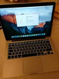Macbook Pro A1502 13.3 Retina Intel i7 3.1Ghz 16GB RAM 128GB SSD Iris 6100 Laptop