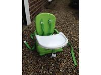 Dining chair booster high chair