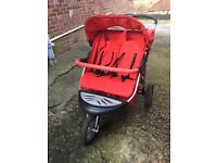 Mothercare Double Buggy Pram Urban Detour Red Good Condition