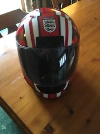 HJC Red & White England Motorcycle helmet. Size M 58. As new condition