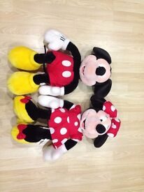 Disney Mickey (56cm Height) & Minnie Mouse (60cm Height)