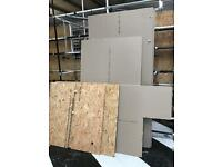 Chipboard and plasterboard