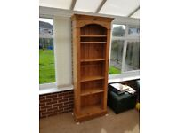 **FREE** Tall Slim Pine Bookcase