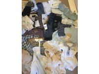 Boys newborn 0-3 bundle and shoe bundle