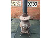 Large potbelly stove