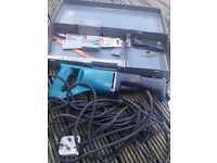 Makita JR3000 Saw Reciprocating Saw Used Condition Case & Blades