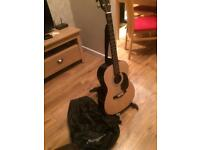 3/4 acoustic guitar, stand, strap and bag as new