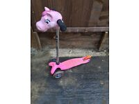 Girls scooter with horse head