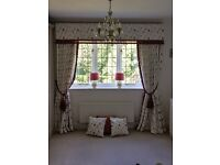 Luxury Curtains with Matching Cushions, Lamps, Blind & Bed Cover