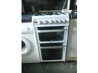 Hotpoint Ultima HUG52G 50cm Double Oven Gas Cooker (6 months old)