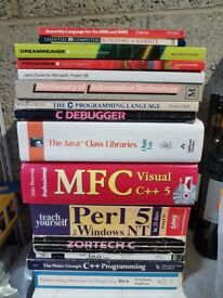 Various computer programming books