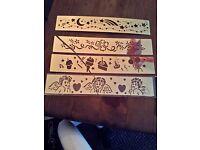 Craft brass embossing stencil bundle, celebration theme x4 banners