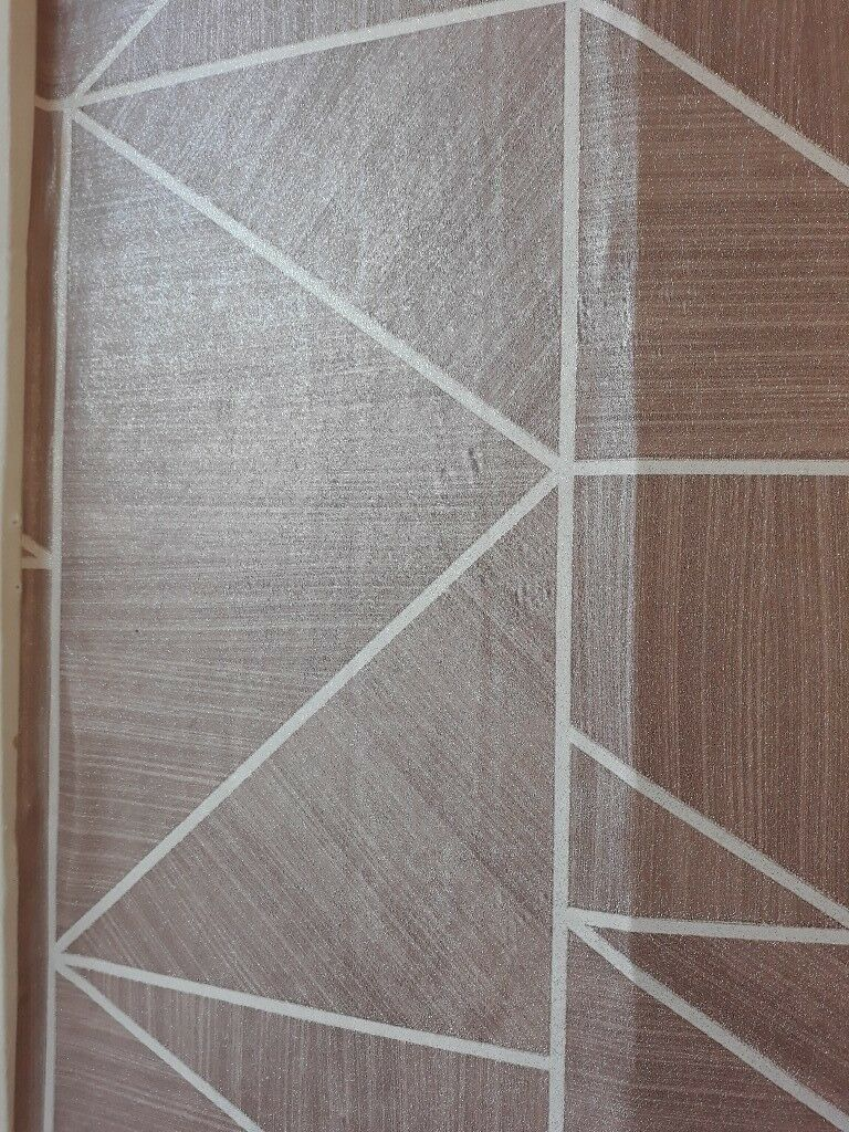 Rose Gold Geometric Wallpaper 2 Rolls In Falkirk Gumtree