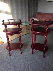Matching lamp/telephone tables