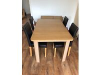 Dining table extendable plus 4 chairs