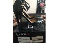 Boohoo ankle strap pointed toe heels