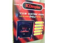 DIMPLEX CLUB OPTIFLAME CLB20L ELECTRIC STOVE IN MATT BLACK FINISH