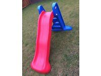 Toddler garden slide and swing