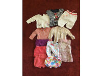 A Job Lot summer bundle of baby girl's clothes 3-6 months