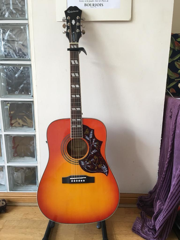 Epiphone Hummingbird Proin East End, Glasgow - Never been played. Epiphone Hummingbird Pro . Posted by Scott in Guitars & Accessories, Guitars in East End. 26 May 2018