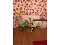 Kids smart trike with handle from mothercare