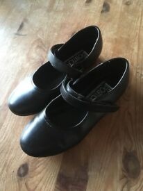 Child's black tap shoes size 12 very good condition