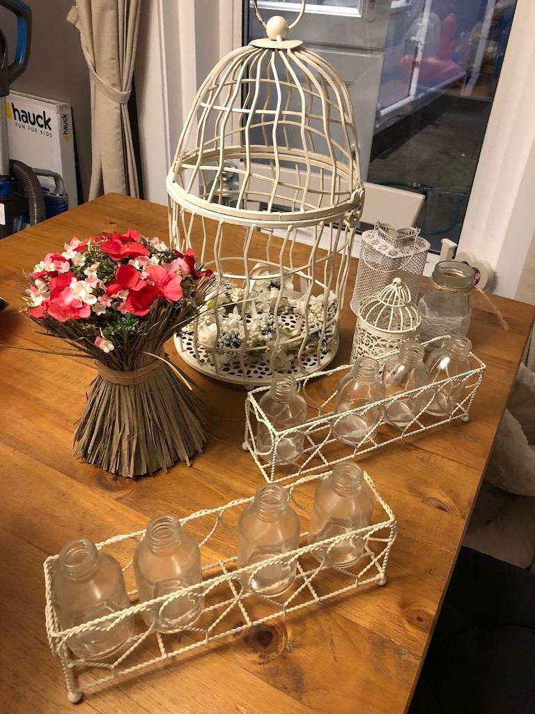 Collection of shabby chic decorations