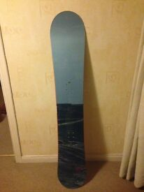 Volki Search Snowboard. Used once. 152cm in length and 23cm width.