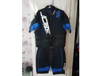 Brand new jobe wetsuit and brand new neoprene lifejacket