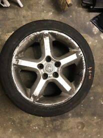 "Astra H, Zafira B, Vectra C - 17"" Penta Star Alloys with Tires"