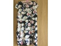 Phase Eight floral crepe special occasion dress.