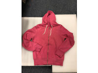 ladies pink zip up hoody