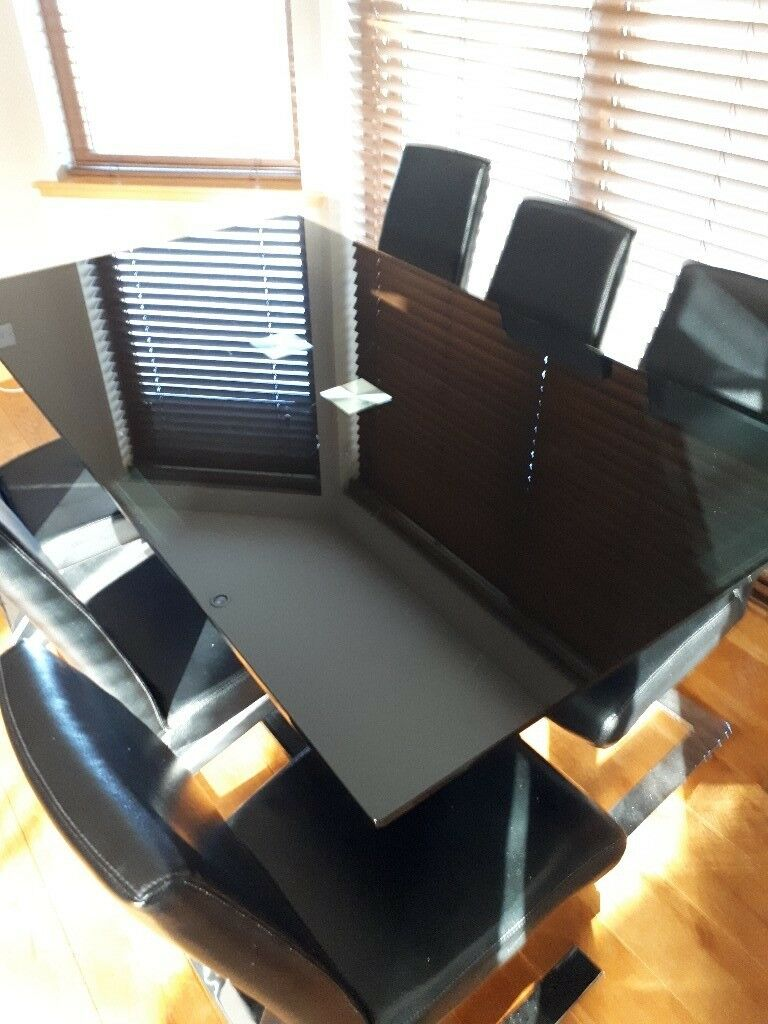 Modern Dining Table With 6 Chairs In Elgin Moray Gumtree