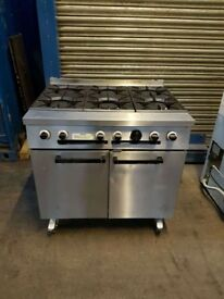 Falcon 6 six burner cooker NATURAL GAS cooker commercial FULLY SERVICED & TESTED