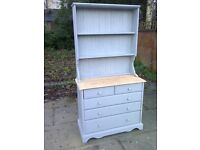 welsh style dresser shabby chic vintage solid pine with drawers