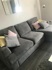 L-Shaped Grey sofa