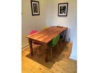 Six Foot Kitchen Dining Table Seats Six to Eight People