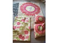 Rug, curtains and cushions (next/dunelm)