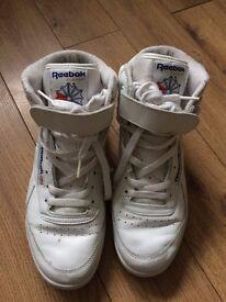 Reebok Classics White Leather High Top Trainers UK6