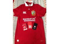 Official Lions rugby shirt age 8