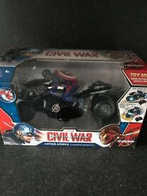 The Avengers: Age of Ultron U-Command Remote Control 12 inch Motorcycle Captain America-£30