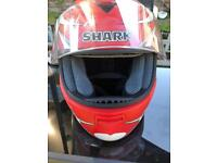 Shark helmet.