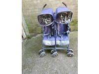 Double Maclaren buggy