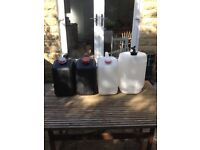 Caravan/camping water and waste containers
