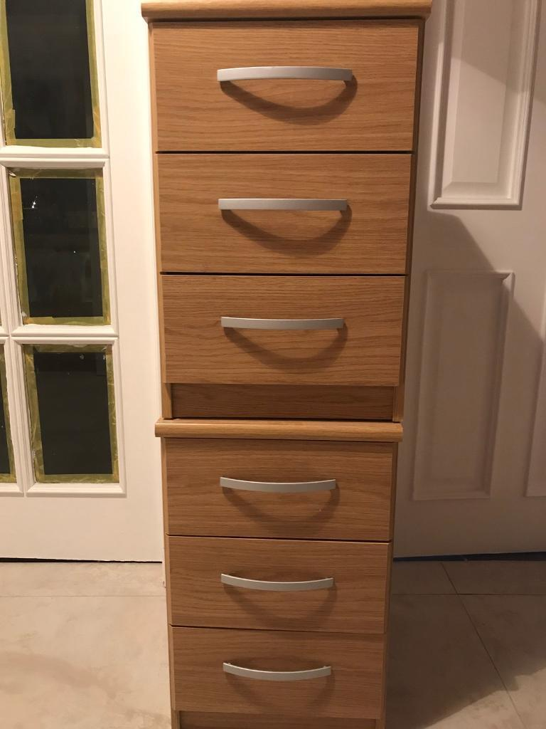 Two bedside drawers