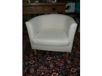 White IKEA tub chair