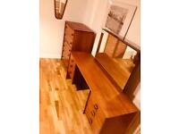 Stag / Danish / Teak / Vintage Style StagTallboy Chest Of Drawers & Dressing Table
