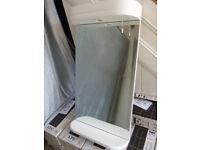 Integrated mains electric bathroom mirror + shelf + spot light
